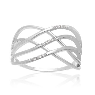 Diamond Swirl Band Ring