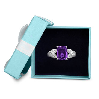 2 3/4ct Amethyst and Diamond Infinity Ring. Amazing Amethyst Ring At A Very Low Price!
