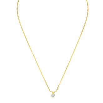 Our #1 Diamond Necklace! 1/4ct Diamond Necklace in Yellow Gold With Free Chain!