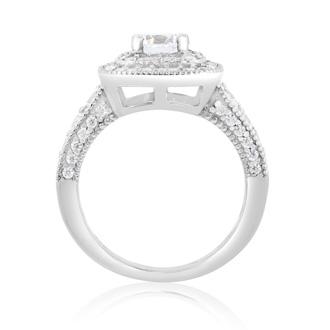 1 1/2 Carat Antique Double Halo Diamond Engagement Ring