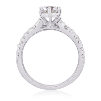 2.00 Carat Classic Prong Set Bridal Set In 14K White Gold