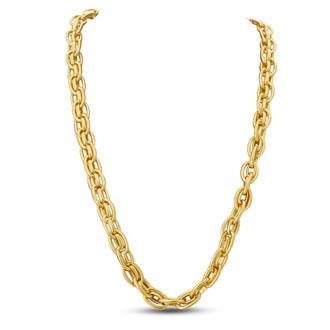 Antique Gold Oval Link Necklace