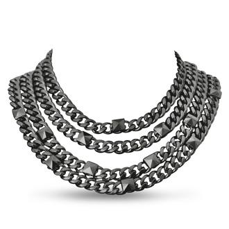 Quadruple Strand Gunmetal Necklace