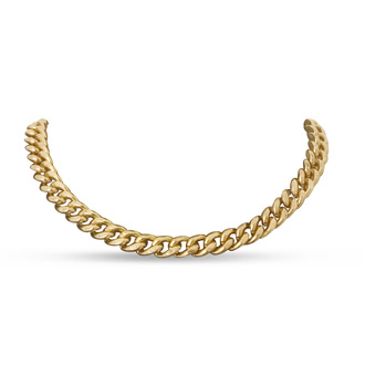 Antique Gold Standard Link Necklace