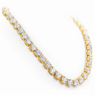 Fine Clear Crystal Line Necklace, 18 Inches