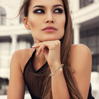 Iridescent Strand Bracelet