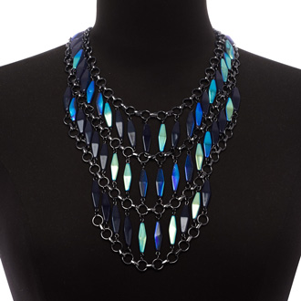Midnight Triple Strand Bib