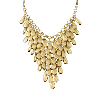 Gold Teardrop Bib Necklace