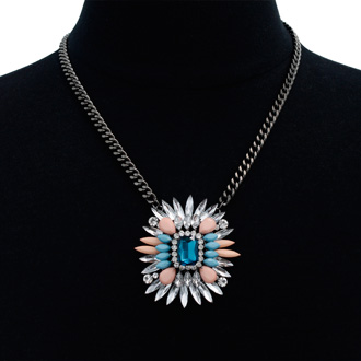 Blue Raspberry Chain Necklace