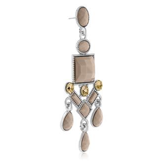 Passiana Chandelier Crystal Earrings, Almond
