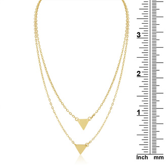 Double Triangle Layer Necklace, Yellow