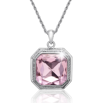 Pink Topaz Necklace With Free Matching Earrings!