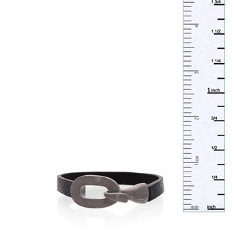 Black Vegan Leather Cuff Bracelet