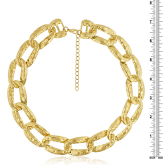 Gold Link Chain Necklace, 16 Inches