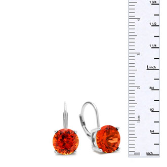 5 1/2ct Created Padparadscha Sapphire Drop Earrings