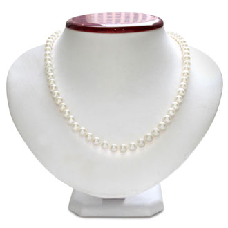 Hand-Knotted 7mm A Grade Pearl Necklace with Sterling Silver Clasp