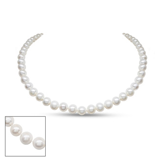 16 inch 7mm AA Pearl Necklace with 14k White Gold Clasp