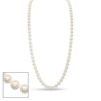 24 inch 10mm AA Pearl Necklace with 14k Yellow Gold Clasp