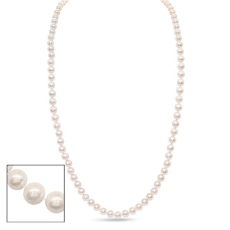 36 inch 10mm AA Pearl Necklace with 14k Yellow Gold Clasp