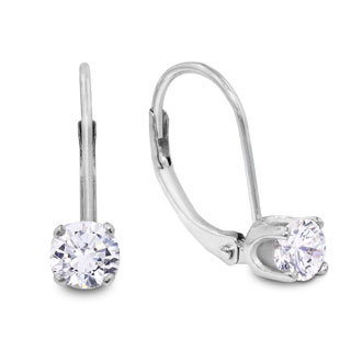 1/4 Carat Diamond Drop Earrings in 14k White Gold