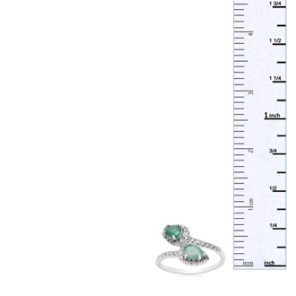 3/4 Carat Pear Shape Emerald and Diamond Wrap Ring