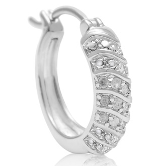 THESE ARE JUST AS AMAZING AS THE OTHER HOOPS - 1/4ct Four Row Diamond Hoop Earrings, Our Most Popular 1/4 Carat Diamond Hoops!