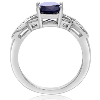 2 1/4ct Sapphire and Diamond Infinity Ring