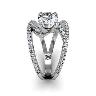 1.50ct Modern Diamond Engagement Ring in 14k White Gold