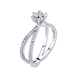 1.25ct Contemporary Diamond Engagement Ring