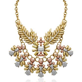 Metallic Branch Statement Necklace