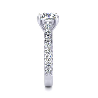 2 Carat Solitaire Engagement Ring With 1.50 Carat Center Diamond In 14K White Gold