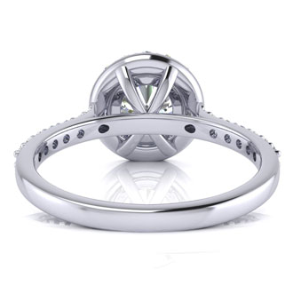 1 1/4 Carat Halo Diamond Engagement Ring in 14k White Gold