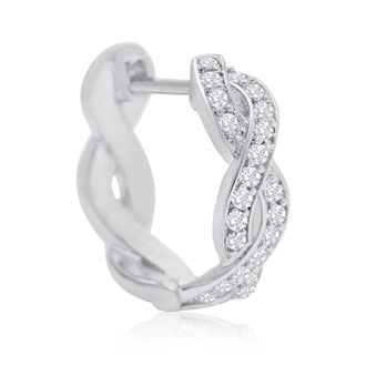 1/4ct Diamond Swirl Hoop Earrings.