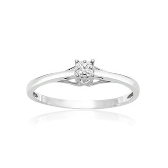 Sterling Silver .05ct Diamond Promise Ring
