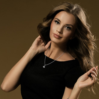 1/4 Carat Diamond Starburst Necklace, Sterling Silver, 18 Inches. Fiery Diamonds!