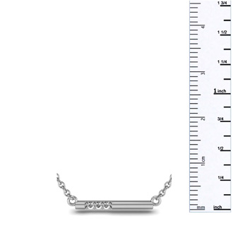 0.06ct Diamond Bar Necklace, Sterling Silver, 18 Inches
