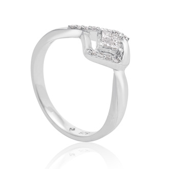 1/5 Carat Diamond Statement Ring In Sterling Silver - SPECIAL PURCHASE CLOSEOUT, LIMITED SUPPLY!