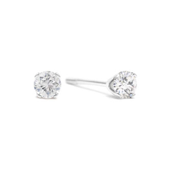 1/4 Carat Diamond Stud Earrings In White Gold With Free Matching Pendant