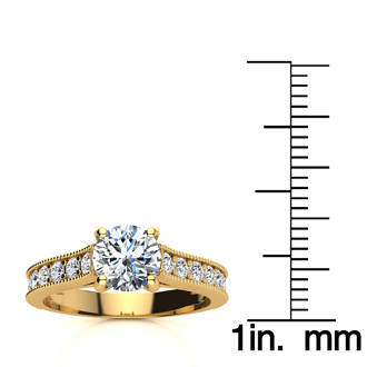 1.50 Carat Solitaire Engagement Ring With 1 Carat Center Diamond In 14K Yellow Gold