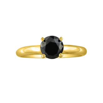 Solitaire Ring Setting in Yellow Gold (IN ADDITION TO DIAMOND PRICE)