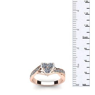 1/2 Carat Heart Shape Engagement Ring In Rose Gold