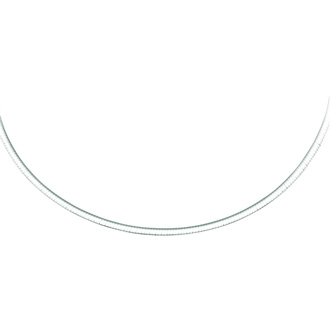 14 Karat Yellow & White Gold 3.0mm 16 Inch Two-Tone Reversible Omega Chain Necklace