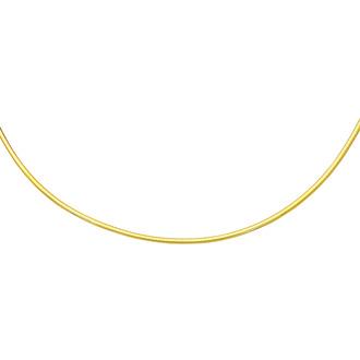 14 Karat Yellow Gold 3.0mm 7 Inch Round Omega Chain Bracelet