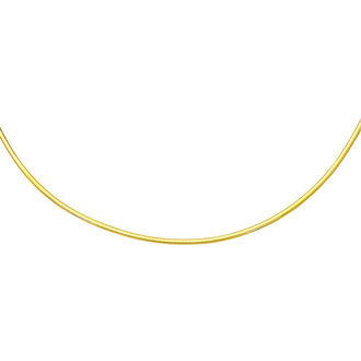 14 Karat Yellow Gold 3.0mm 16 Inch Round Omega Chain Necklace