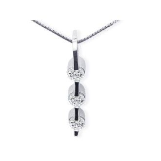 Contemporary 1ct  Channel Set Diamond Pendant in 14k White Gold