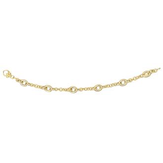 14 Karat Yellow Gold 1-4mm 7.50 Inch Shiny Round Link & Oval Link Bracelet