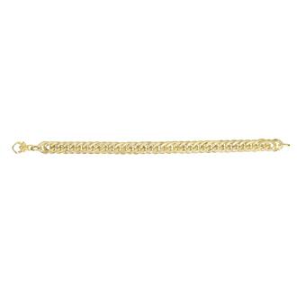 14 Karat Yellow Gold 7.5 Inch Ridged Fancy Link Bracelet