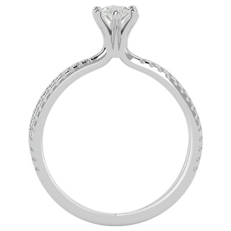 3/4ct Marquise Split Band Engagement Ring Crafted In 14K White Gold