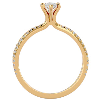 3/4ct Marquise Split Band Engagement Ring Crafted In 14K Yellow Gold
