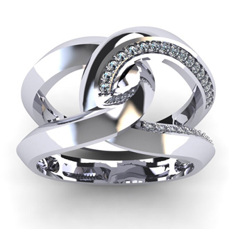 Super Bold And Gorgeous 1/4 Carat Diamond Band In 14K White Gold